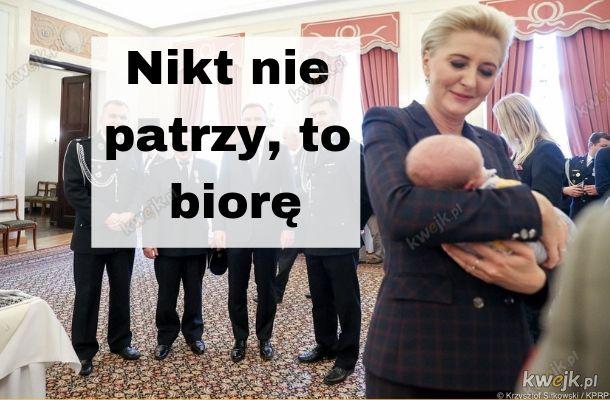 W prezydenckiej rodzinie pojawił się nowy członek