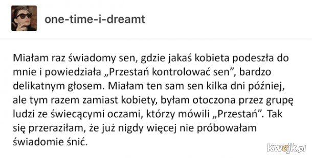 Przerażający, świadomy sen