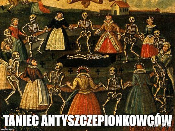 Taniec antyszczepionkowców