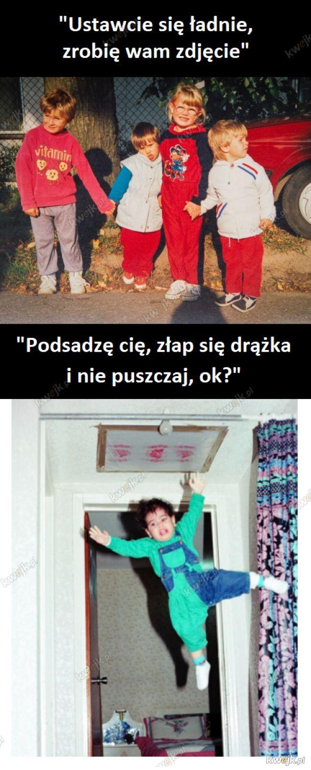 Dwa rodzaje zdjęć z dzieciństwa