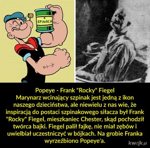 Postacie z kreskówek inspirowane prawdziwymi osobami