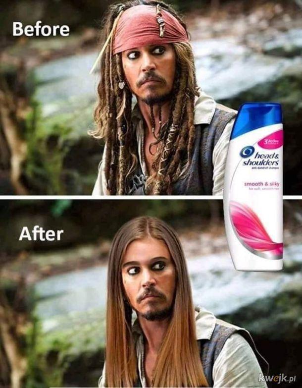 Kapitan umył włosy !