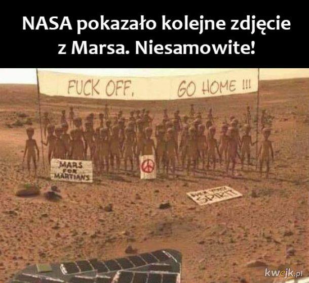 Niesamowite zdjęcie z Marsa