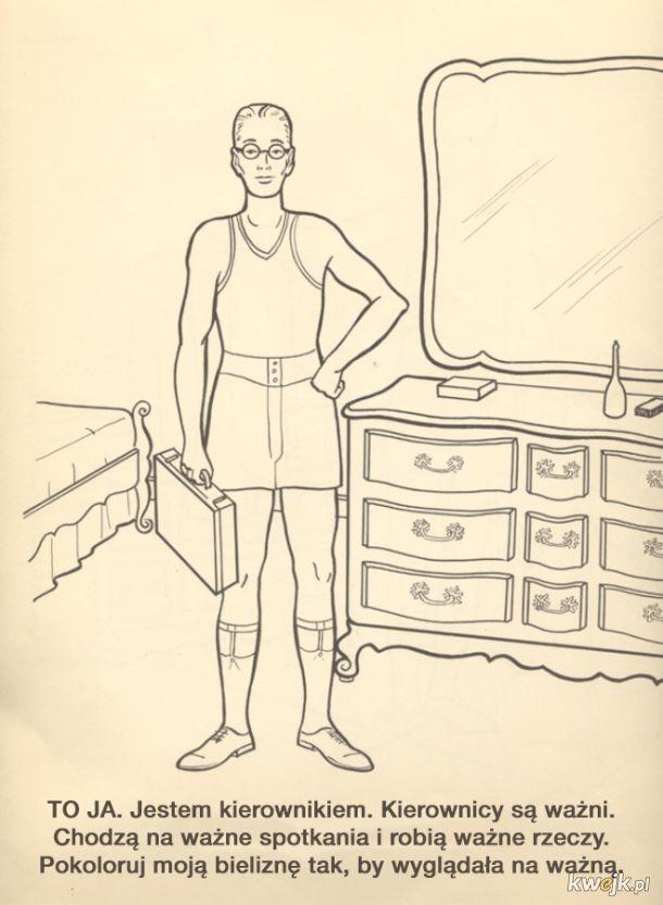 Kolorowanka dla pracowników korporacji (z 1961 roku, a wciąż aktualna)