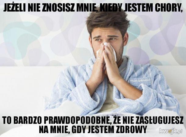Chory mężczyzna