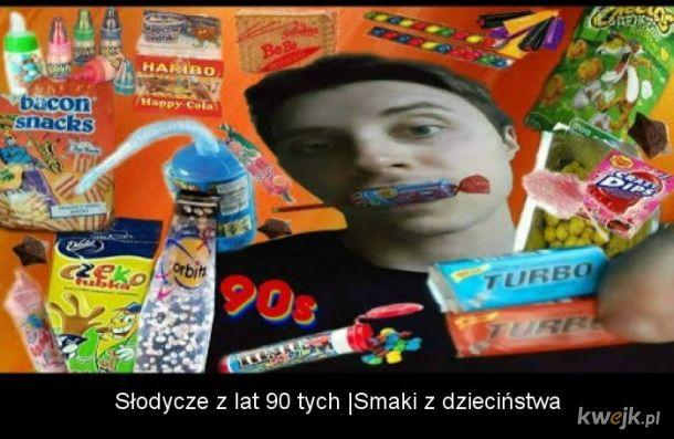 Słodycze popularne w latach 90 tych