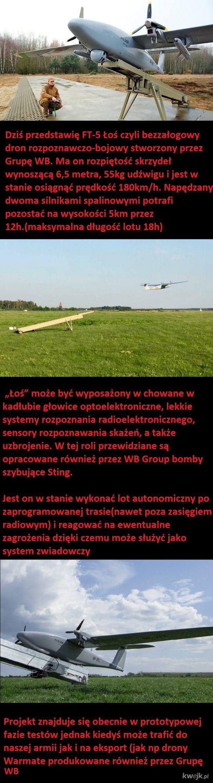 Dron rozpoznawczo bojowy FT-5 Łoś