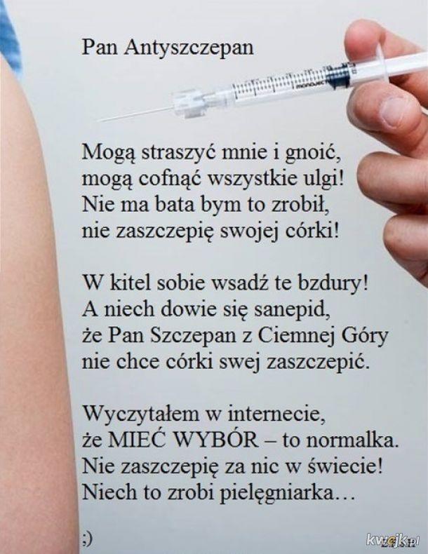Antyszczepionkowców jest więcej niż ci sie wydaje