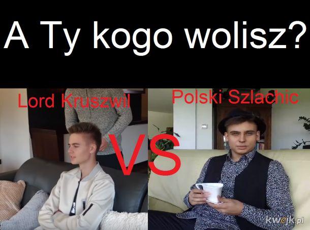 Lord Kruszwil vs Polski Szlachcic = Internet vs TV