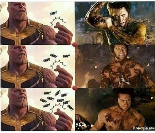 Thanos kontra Wolverine