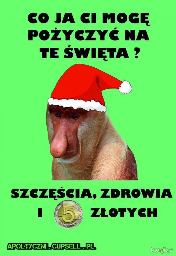 Nosacz życzenia na Święta