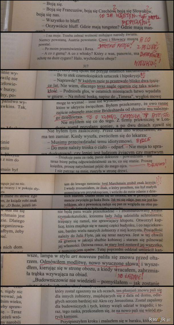 Książka z biblioteki i prawdziwy Polak-katolik