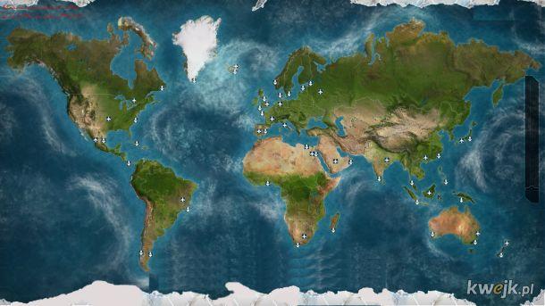 Zaktualizowana Topografia Mapy Świata