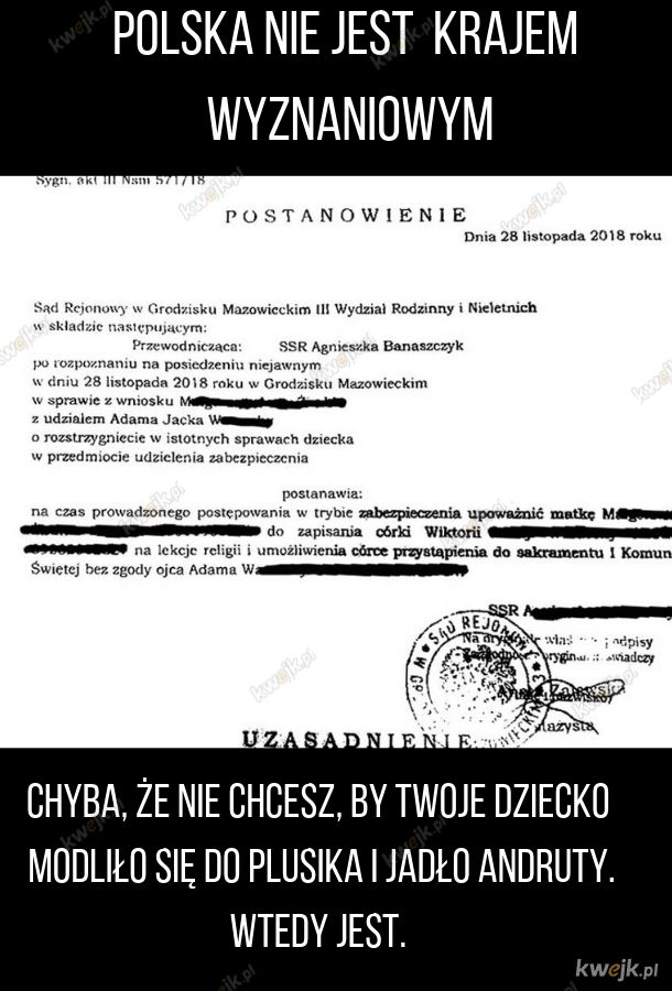 Wolność wyznania po polsku