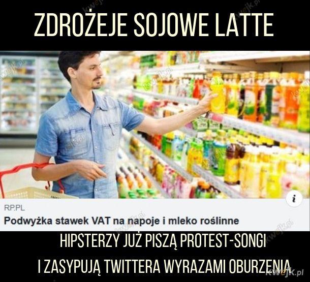 Drożeje sojowe latte