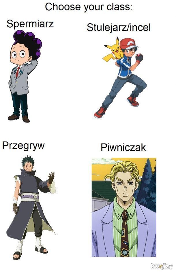 Klasy postaci