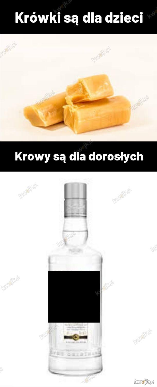 """Mianem """"krowy"""" w wielu miejscach Polski określana jest butelka wódki o pojemności 0,7 l"""
