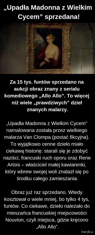 """Sprzedano """"Upadłą Madonnę z Wielkim Cycem"""""""