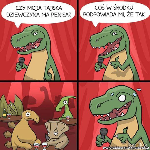 Niezręczny żart T-rexa