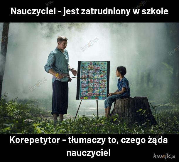 Nauczyciel a korepetytor