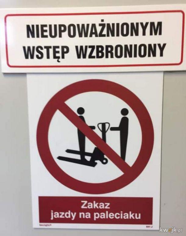 Przepisów trzba przestrzegać!