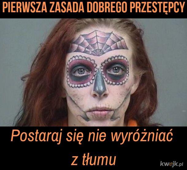 Tatuaż na twarzy to nienajlepszy pomysł