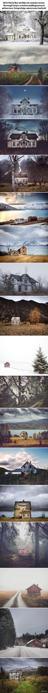 Opuszczone domy na norweskim kole podbiegunowym