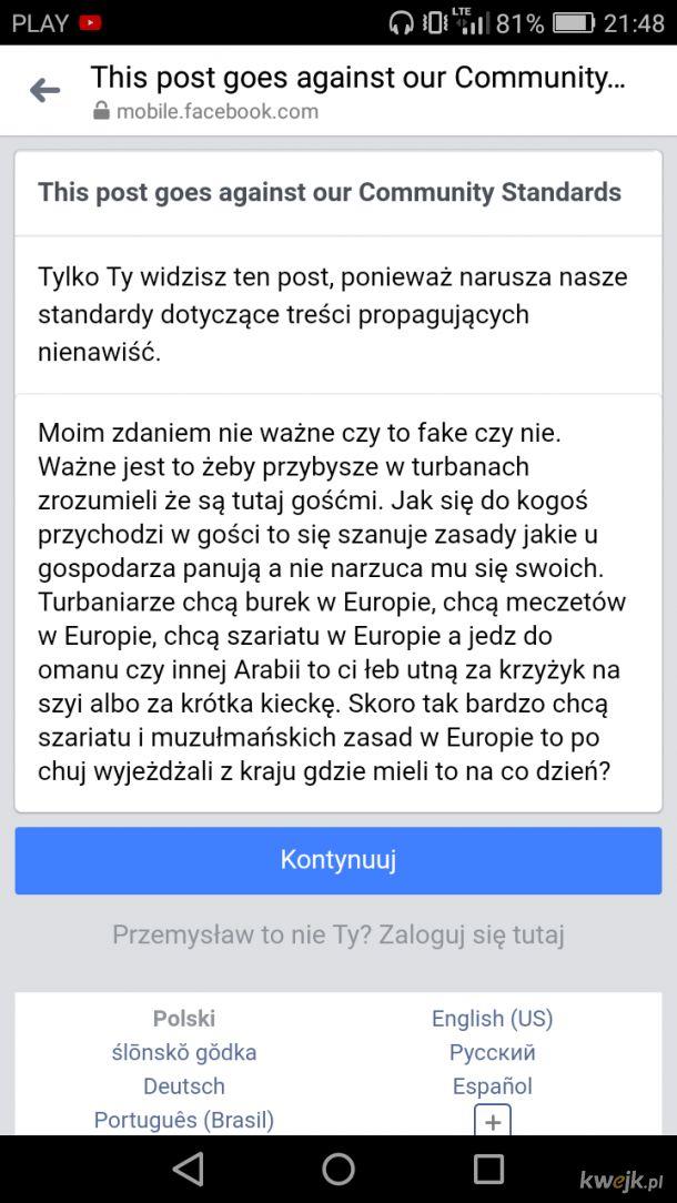 Ban na 24. Facebook wy tak na serio?