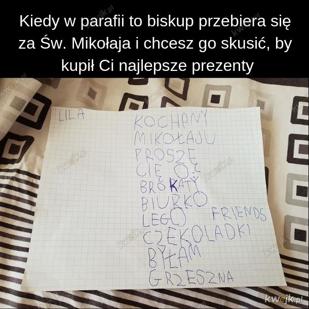 List do Św. Mikołaja