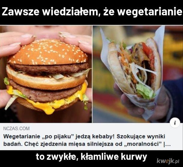 Niby prawa zwierząt, a tutaj podwójne mięsko i sos mieszany