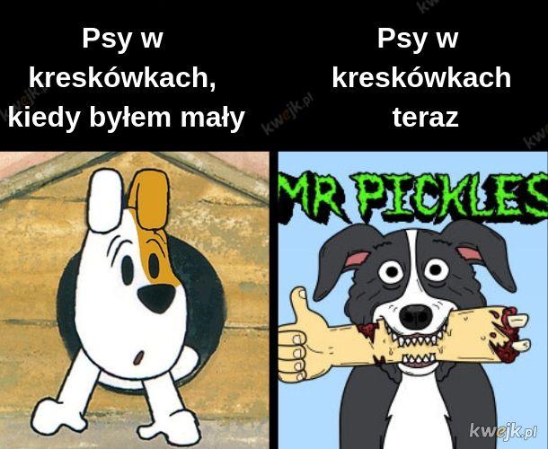 Psy w kreskówkach