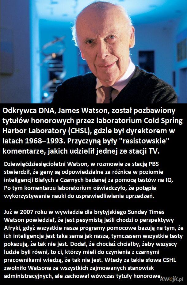 Odkrywca DNA pozbawiony tytułów honorowcyh