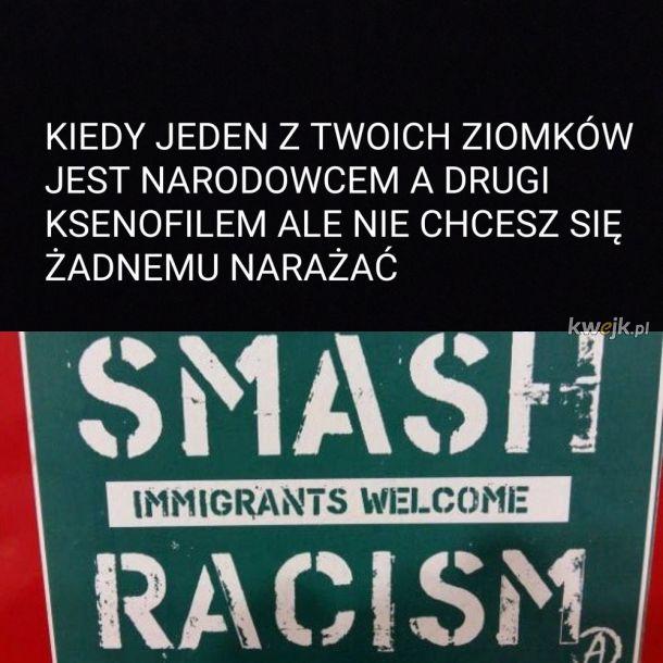 smash immigrants, welcome racism