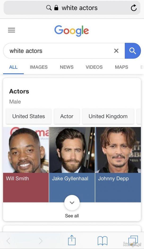 Biali aktorzy...