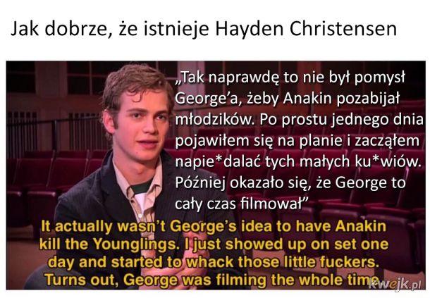 Hayden Christensen to śmieszek