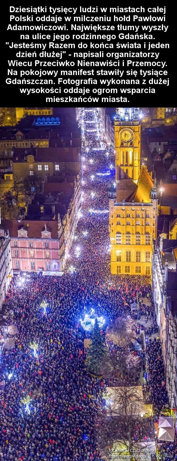Niesamowite zdjęcie z Wiecu Przeciwko Nienawiści i Przemocy