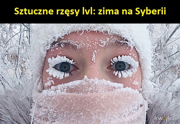 Zima  mocno
