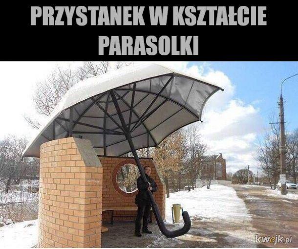 nie chroni przed słońcem wiatrem i deszczem