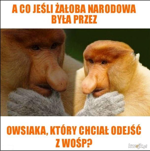 Żałoba przez odejscie Owsiaka