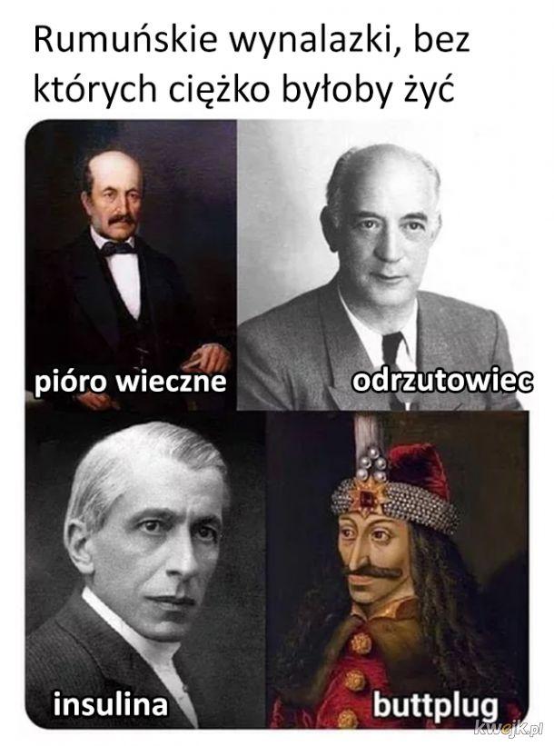 Ważne, rumuńskie wynalazki