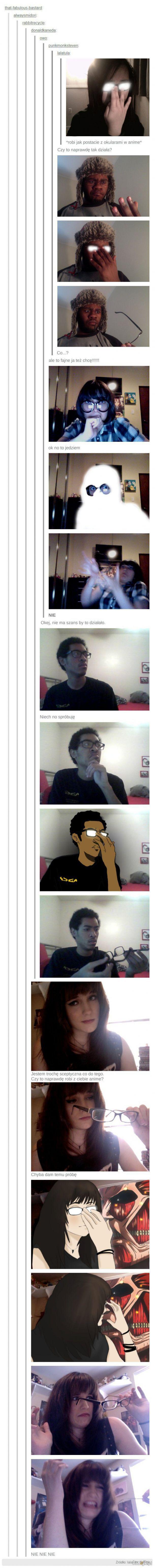 Okulary jak z anime