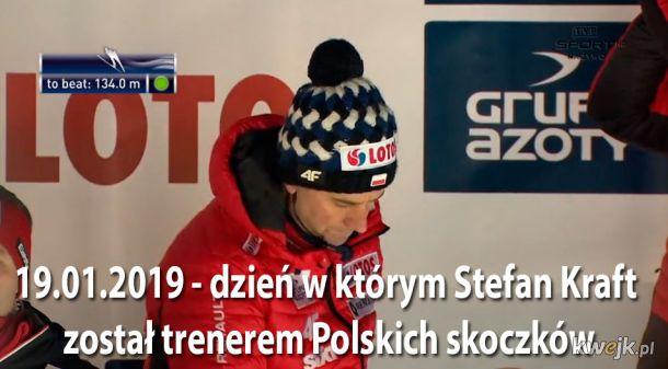 Nowy trener skoczków - S. Kraft! - tvp 2019