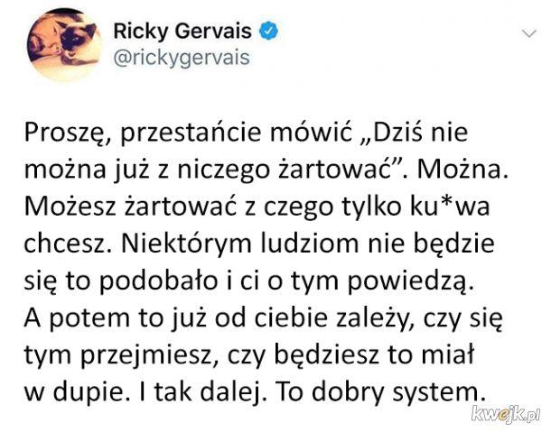 Ricky Gervais dobrze gada