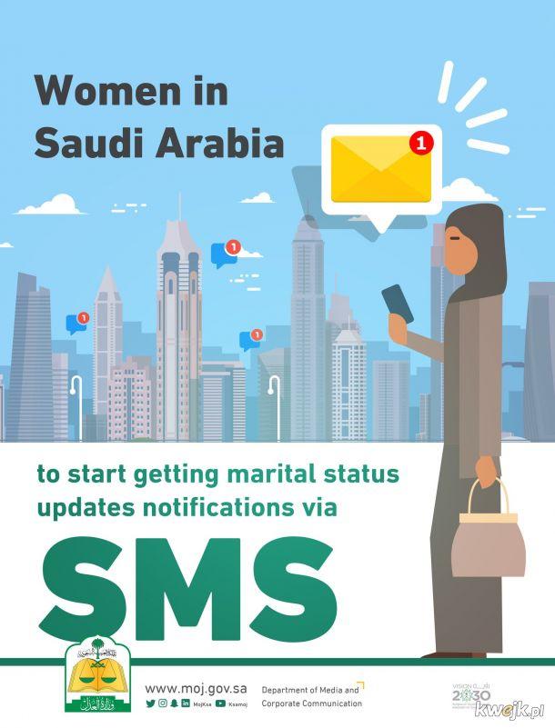 Kobiety w Arabi Saudyjskiej od teraz dowiedzą się o swoim rozwodzie smsem.