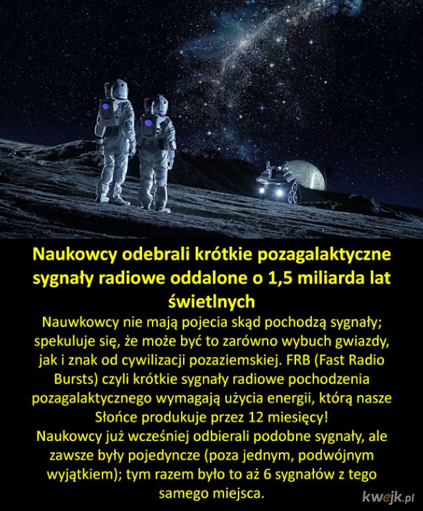 Tajemnicze sygnały z kosmosu