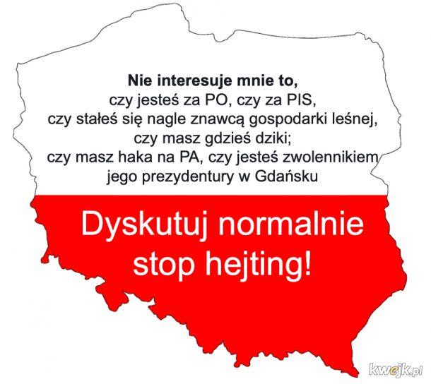 Dyskusje sięgają dna. Stop hejting Polsko!