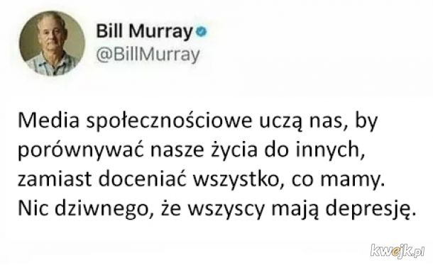 Bill Murray to mądry gość