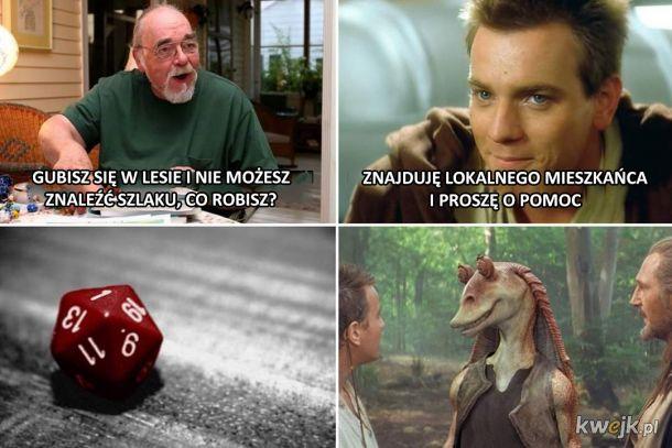 Obi Wan nie umie rzucać kostką