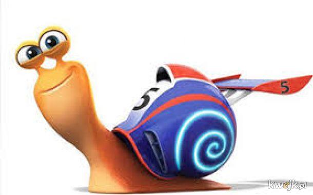 łał ten ślimak dał