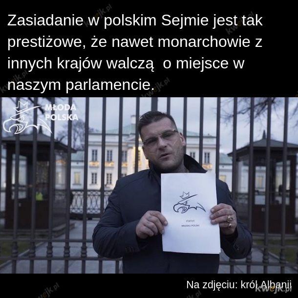 Król Albanii do Sejmu!